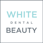 white dental beauty tooth whitening gel logo