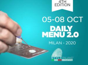 daily menu style italiano 2.0 courses